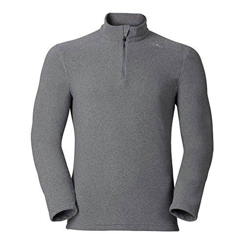 Odlo Herren Midlayer 1/2 Zip LE Tour Pullover, Grey Melange, M