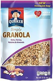 Quaker Simply Granola, Oats, Honey, Almond and Raisin, 12 Ounce Bag
