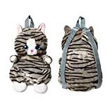 Plush Backpack - Animal Backpack for Toddlers, Kids - 14' Cat Backpack