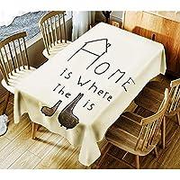 テーブルクロス かわいいプリント防水コーヒーテーブルクロスシンプルなテーブルクロス (Color : 01, Size : 140*140cm)