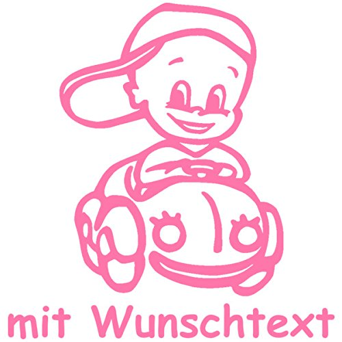 Babyaufkleber mit Name/Wunschtext - Motiv 145 (16 cm) - 20 Farben und 11 Schriftarten wählbar