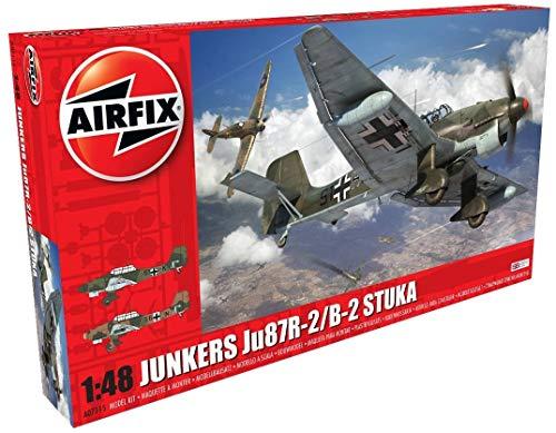 Airfix A07115 1/48 Ju87R-2/B-2 Stuka Modellbausatz Junkers JU87B-2/R-2, grau