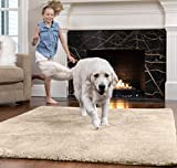 GORILLA GRIP Original Faux-Chinchilla Area Rug, 3x5 FT, Many Colors, Soft and Cozy High Pile Washable Kids Carpet, Modern Rugs for Floor, Luxury Shaggy Carpets for Floors, Bed and Living Room, Taupe