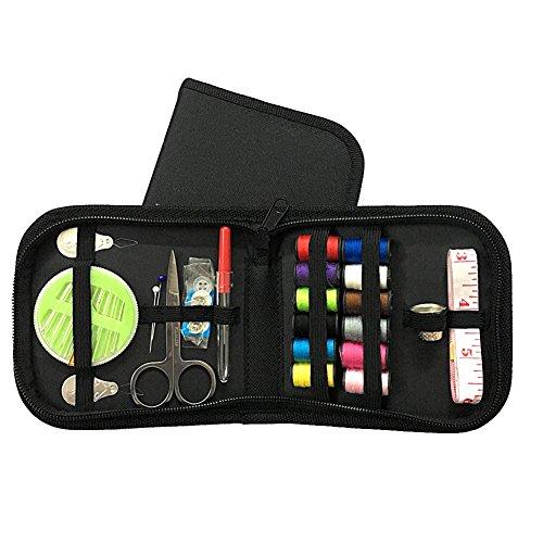TrifyCore Nähset für Anfänger, tragbar, für Erwachsene, Mädchen, 45 Stück, Schwarz