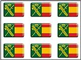 Artimagen Pegatina rectángulos Bandera con Logo Guardia Civil 9 uds. Resina...