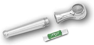 LX Pipes Athletic Medium 2.0 - roestvrij stalen rookpijp met 9 mm inzetstuk voor Purize filter - filtert tot 70% van de sc...