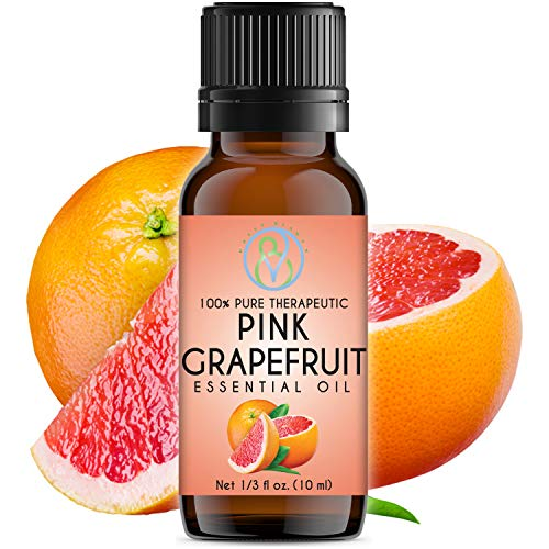 Pink Grapefruit Essential Oil 10 ml 100% Pure & Natural Therapeutic Grade Undiluted Best For Aromatherapy Diffuser, Body, Skin and Hair