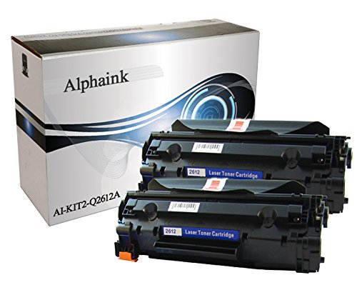 2 Toner Alphaink Compatibile con HP Q2612A versione da 2000 copie per stampanti HP 1005 1010 1012 1015 1018 1020 1022 1028 3015 3020 3050 M1005 M1319MFP