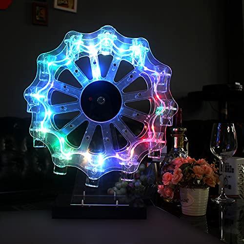 Portabicchieri da Vino A LED, Portabicchieri Girevole A LED Luminoso, Portabicchieri da Cocktail Portabicchieri con Ruota Panoramica A 12 Fori