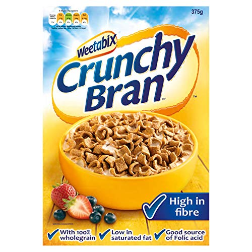 Weetabix Crunchy Bran, 375 g, Pack of 9
