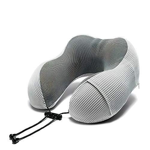 Almohada para Cuello portátil Almohada de Viaje ergonómica Almohada para Dormir de Espuma de Memoria Avión Ideal Almohada de Viaje en Forma de U Cojines Tren de Oficina Camping-D