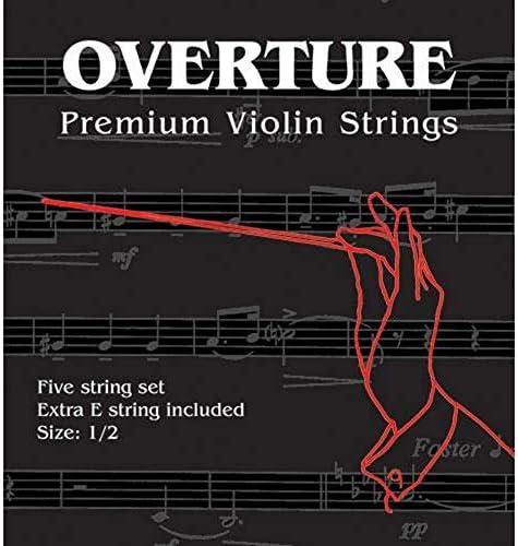 Shar Overture Premium Violin String Set 1 2 Size Medium Gauge product image