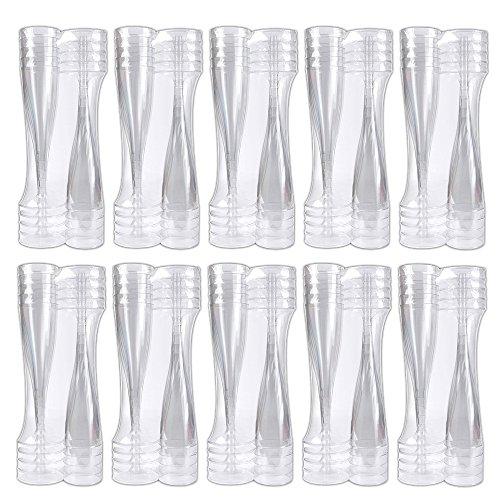 Schramm® 100 Stück Einweg Sektgläser Sektglas Champagner Glas Sektflöten Sektkelch Stielglas Champagner Gläser Einwegsektglas Einwegsektgläser Fassungsvermögen 100ml Einweg Plastik Kunststoff