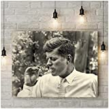 A&D Vintage Poster Foto Druck John F Kennedy Rauchen JFK