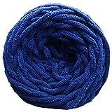 Verilike - Gomitolo di filato grosso, spesso e morbido, per fai da te, sciarpe, maglioni, asciugamani, Poliestere, Dark Blue, 100 g