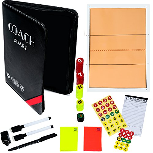 Unconditional Rosie Volleybal Coaching Gear – Dry-Erase Volleyball Coaching Clipboard – Coach's Equipment That Includes Magnetic Board, Scorebook, Playbook, Whistle, Cards and Plays.