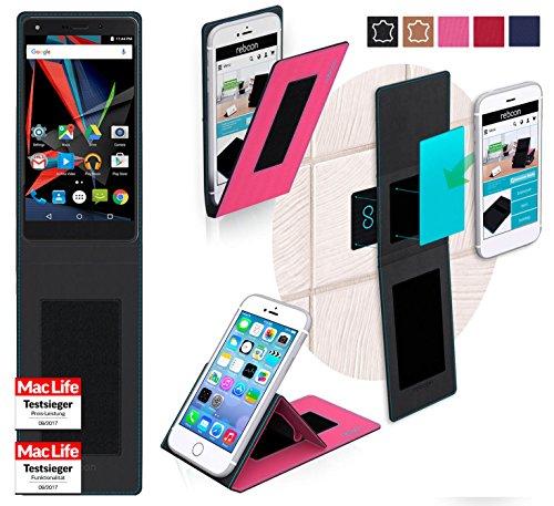 reboon Hülle für Archos Diamond 2 Plus Tasche Cover Case Bumper   Pink   Testsieger