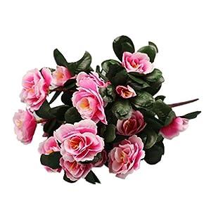 Silk Flower Arrangements Artificial Flowers,Vibola Simulation of Azalea Safflower Bouquet Home Wedding Decoration (Pink)