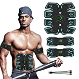 GoodWell Electroestimulador Muscular Abdominales, Masajeador Eléctrico Cinturón con USB,...