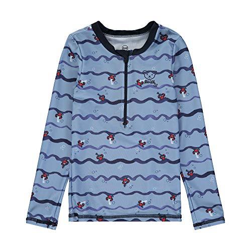 Steiff Shirt Anti-UV, Bleu (Forever Blue 6027), 86 (Taille Fabricant: 086) Bébé garçon