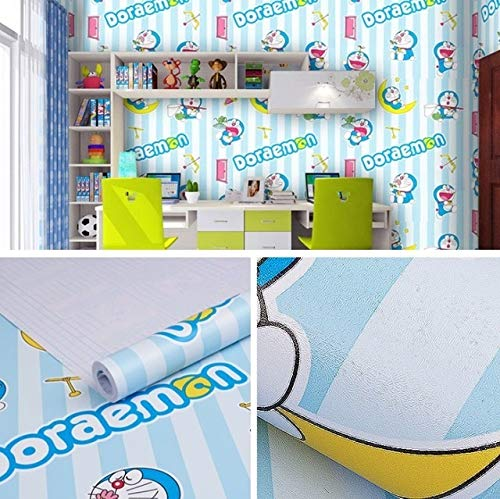 jidan Comic-Figuren animierten Selbstklebende 3D Wallpaper Tapeten 45cmx10m PVC-Wandaufkleber for Kindraumdekoration (Color : Silver, Dimensions : 10mx45cm)