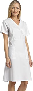 White Cross 8014 Women's Pleated Mock Wrap Dress