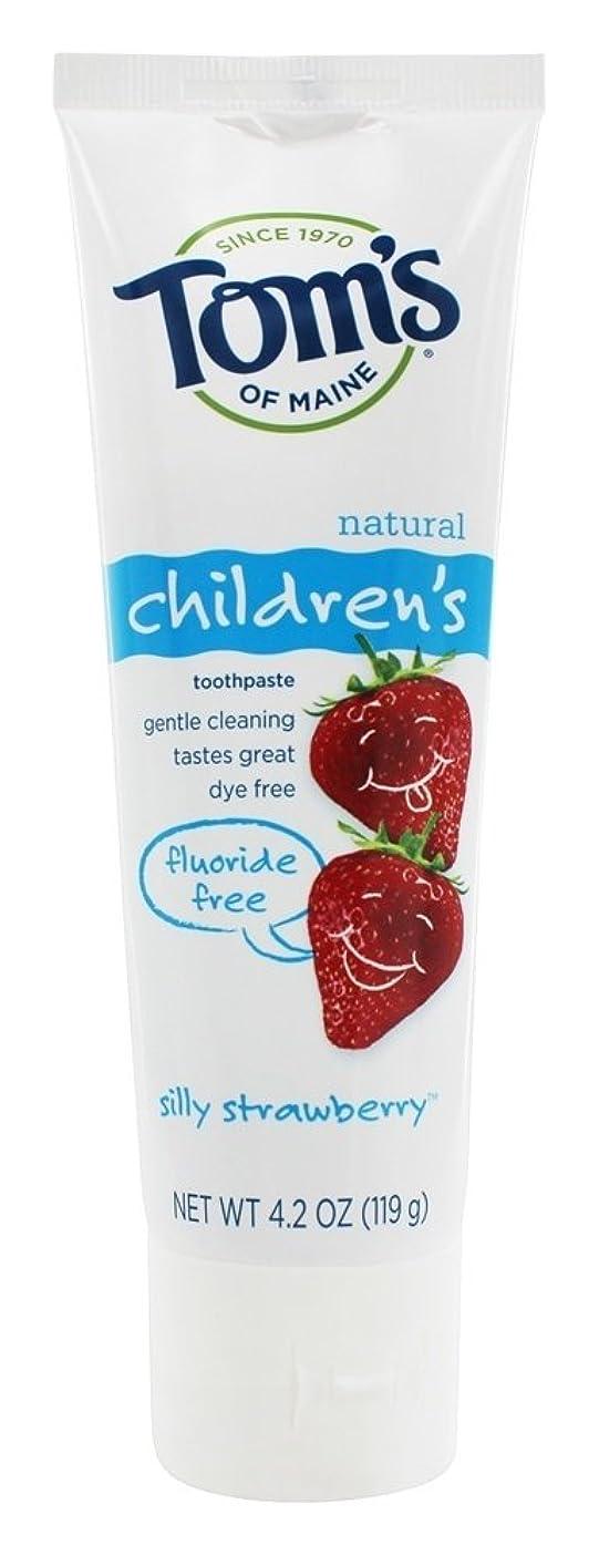 うれしい子羊刑務所Tom's of Maine - 自然な歯磨き粉の子供のフッ化物無料愚かなイチゴ - 4.2ポンド [並行輸入品]