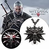 Repliquemangacine The Witcher 3 - Witcher Wolf Médaillon