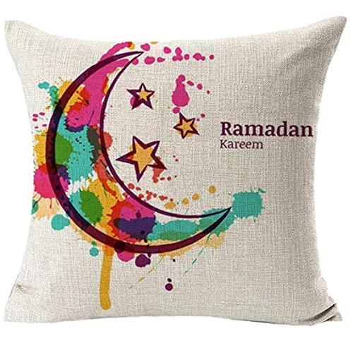 Onsinic Fundas De Almohada Interior Musulmán del Ramadán Eid Mubarak Kareem Fundas Sofá Tiro De La Cintura Cubierta del Amortiguador del Coche