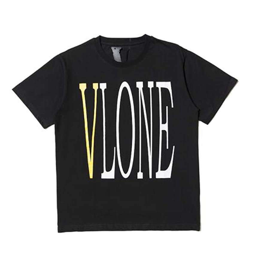 YYWan Tide Brand Vlone Yellow Big V Commemorative Limited T-Shirt Men Short-Sleeved