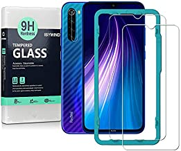 Ibywind Screen Protector for Redmi Note 8,[Pack of 2] with Camera Lens Protector,Back Carbon Fiber Skin Protector,Including Easy Install Kit