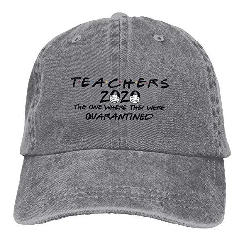 Teachers 2020 The One Where They were Quarantined Cowboy Caps Unisex Adjustable Trucker Baseball Hats Gray