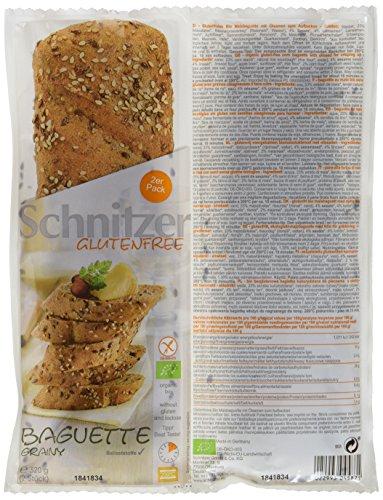 Schnitzer glutenfree Bio Baguette Grainy, 5er Pack (5 x 320 g)