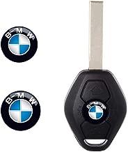 2 Pieces Key Fob Remote Badge Logo Emblem Sticker Dia:11mm for BMW