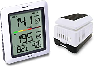 ECOWITT WH0290 Air Quality Monitor Meter PM2.5 Detector Indoor Outdoor with Temperature and Humidity for Home Office Car