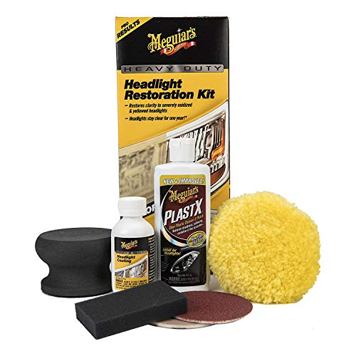 Our #5 Pick is the Meguiars G2980 Headlight Restoration Kit