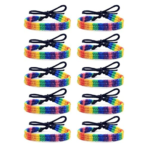 Frotox Pulsera Tejida a Mano de 10 Piezas, Pulsera Delicada Trenzada Multicolor variada, Pulsera de Amistad de diseño Elegante