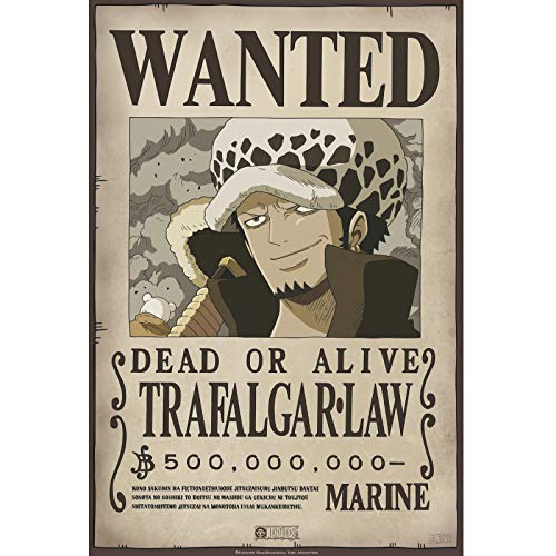 ABYstyle - One Pice - Poster - Wanted Trafalgar Law (52x35)