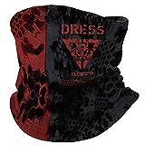 ドレス(DRESS) テクニカルヒートネックゲーター パイソンBK RED フリーサイズ