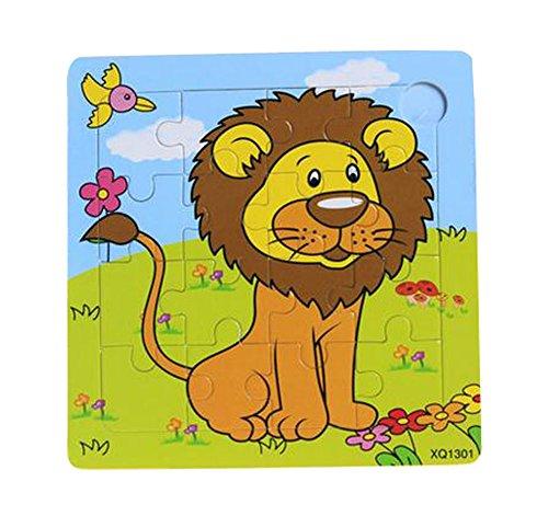Set Of 2 Puzzle en bois Puzzles enfants Puzzles, Lion