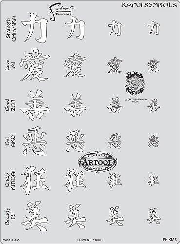 60% de descuento Artool Artool Artool Freehand Airbrush Templates, Kanji Master Kanji Symbols by Iwata-Medea  Ahorre hasta un 70% de descuento.