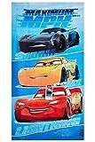 Toalla de playa de Disney Cars Maximum MPH, toalla de baño, toalla de 70 x 140...