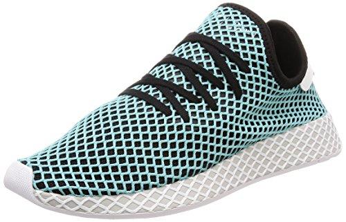 adidas Mens Originals Deerupt Runner Solar Red/Blue Bird Mesh Size 9