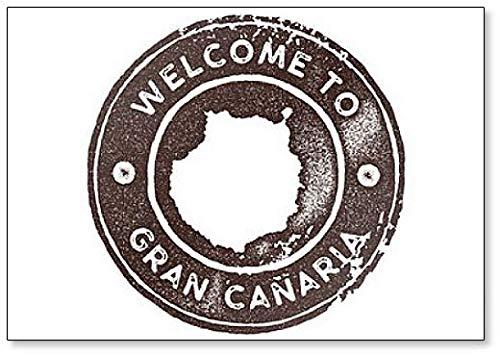 Welkom bij Gran Canaria Map Vintage. Retro-stijl. - Koelkast magneet
