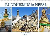 BUDDHISMUS in NEPAL, Kloester und Kultstaetten (Wandkalender 2022 DIN A2 quer): Bilder von grossartigen buddhistischen Orten in Nepal (Monatskalender, 14 Seiten )