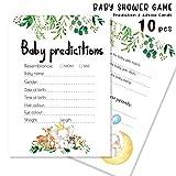 10PCS / Set Tarjetas De Juego De Predicción/Asesoramiento De Baby Shower para Niño O Niña Tema Lindo De La Selva