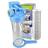 FILTROTECH 10 Zoll Vorfilter Wasserfilter f. Hauswasserwerk Gartenpumpe Schmutzfilter Anschluss IG-1 Zoll