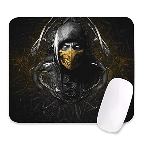 Mortal Kombat Scorpion Mouse Pad, with Non-Slip Rubber Base, Premium-Textured & Waterproof Mousepad,Mouse Pads for Computers,Laptop,Gaming,Office & Home (10.5x12.5inch)