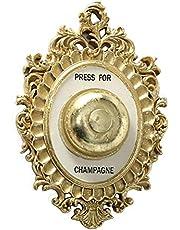 Home Collection Väggmålning prydnad champagne sköld vägg klocka hotell concierge klocka press för champagne H 23 cm guld