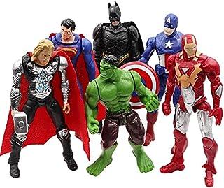 6pcs/Lot Marvel Avengers Action Figure Spiderman Hulk Thor Toy Figures Hot Toys Iron Man Gift for Boys